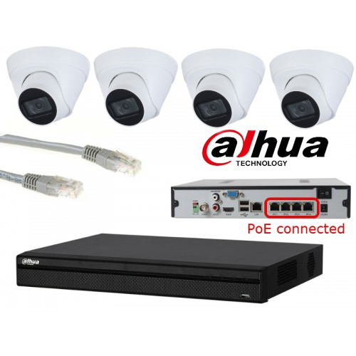 Dahua IP camerasysteem 3 megapixel PoE