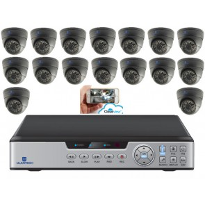 Camerasysteem 16 kanaals zwart