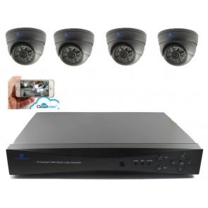 Camerasysteem 4 kanaals zwart