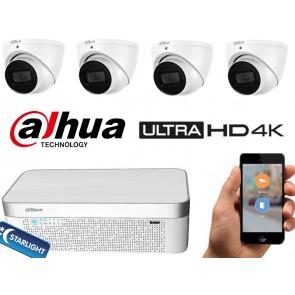 Dahua Ultra 4k camerasysteem 4x dome starlight motozoom