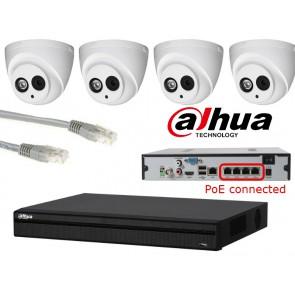 Dahua IP camerasysteem 2 megapixel PoE
