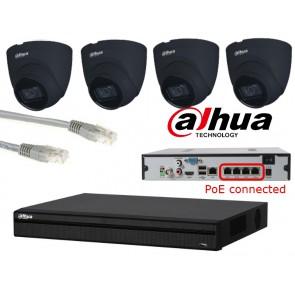 Dahua IP camerasysteem 4 megapixel PoE