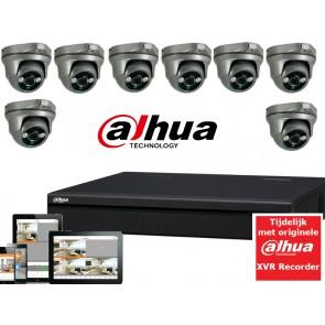 FULL HD camerasysteem met 8 dome 2,1Mp ultra IR Light.